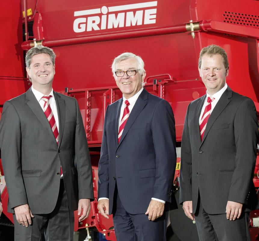 Ledelsen af Grimme Gruppe: Jens Walter, Franz Grimme og Franz-Bernd Kruthaup.