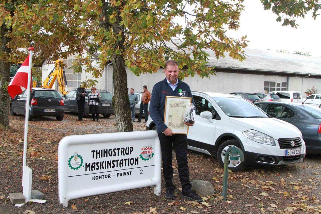 40 års jubilar, chauffør og aut. kloakmester Johannes Høgsberg Kristensen.